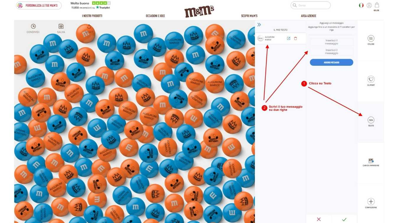 M&M's personalizzati